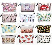 3D Unicorn Celeb Make Up Cosmetic Bag Pouch Purse Pencil Case Bag Travel Gift