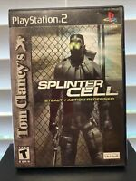 Tom Clancy's Splinter Cell - Playstation 2 PS2 Game - Complete & Tested