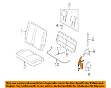 FORD OEM 05-07 Freestyle Rear Seat-Latch Right 5F9Z74613D60AA