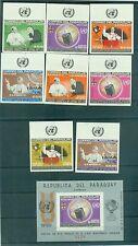 POPE PAUL VI VISIT U.N.O. - PARAGUAY 1965 set+block B