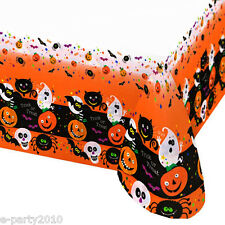 HALLOWEEN Spooky Smiles PLASTIC TABLE COVER ~ Birthday Party Supplies Decoration