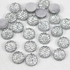 Flat Back Rhinestones Embellishments Card Making  Decoden- 50 Pieces-10mm-Clear