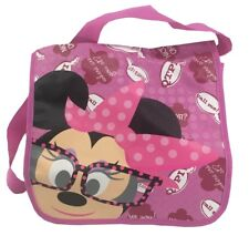 Disney Minnie Mouse mit Brille Messenger Bag Kindergartentasche pink 31x24x9cm