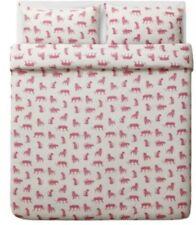 Urskog IKEA Duvet Cover White Pink Animals Tiger Full Queen Shams Bedding Cotton