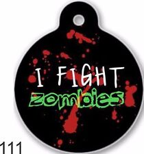 Cute Custom Personalized Pet ID tag for Dog and Cat ZOMBIES unique Tags Charm co