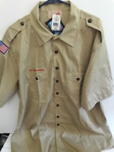 Boy Scouts of America Official men's 3XL Tan Polycotton Short Sleeve