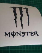 2 black MONSTER VINYL STICKER, CAR DECAL WINDSCREEN Bumper sticker