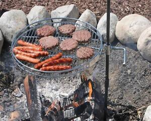 Pioneer CAMPFIRE GRILL.Camping, Outdoor,Fishing, Backyard, Portable BBQ Cooking