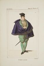 Gravure XIX° Hubert LANGUET Diplomate, Protestantisme, règne Charles IX, XVI° s