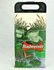 New listing Vtg Budweiser Beer Frogs Anheuser Busch Colapsable Koolit Cooler Tote Made in Us