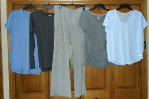 Lot of 5 - Ladies Athletic Workout Tops Pants Size XL ExcCond