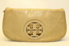 Tory Burch Signature T Distressed Leather Flap Front Convertible Crossbody Bag