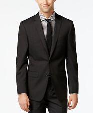 $625 DKNY Men Extra Slim Fit Wool Sport Coat Black Pindot SUIT JACKET BLAZER 42L