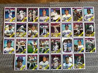 1988 LOS ANGELES DODGERS Topps Complete Baseball Team Set 30 Cards GUERRERO PENA