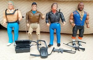 The A Team Vintage Figures x 4 with accessories