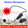 2.4G Wireless Tie Clip Microphone Headset & 3.5mm Jack For Voice Booster Speaker