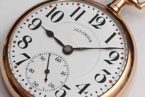 1916 antique ILLINOIS 16 size Pocket Watch - EXCELLENT CONDITION