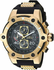 Invicta 25468 Bolt Black Dial Black Polyurethane Strap Chronograph Men's Watch
