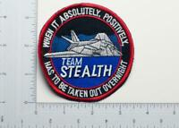 U.S. Air Force F-117 Team Stealth Patch