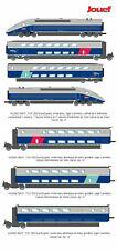JOUEF TGV 2N2 Euroduplex blu/grigio, logo carmillon set 7 elementi. DUPLEX