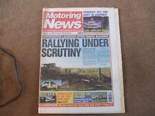 Motoring News 16 February 2000 Swedish Rally GpA Puma Colin McRae Column
