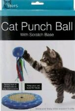 Cat Punch Ball Toy With Scratching Base Interactive Plush Ball New