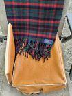 Vintage Pendleton Robe In A Bag Stadium Wool Blanket Red Green Plaid W/ Cushion