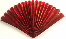 "23"" RED MYLAR PRODUCTION FAN Sleeve Appearing Magic Trick Prop Springs Open BIG"