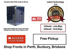 Genuine 160 Watt Lightweight Folding Solar Panel 160W 12 Volt Caravan Kit Korea