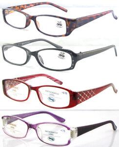 Women's Diamante Detailed Fancy Designed Reading Glasses +50~+4.00 Multi Size+++