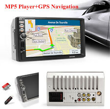 7'' Touch Screen HD Car GPS Navigation Bluetooth Stereo MP5 Player 8GB Card 12V