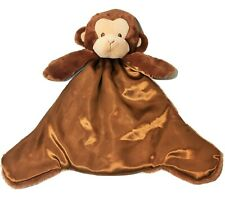 RARE Baby Gund Nicky Noodle Monkey Huggybuddy Brown Security Blankie Lovie Lovey