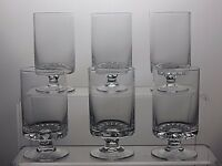SMALL CRYSTAL FOOTED GLASSES SET OF 6