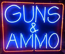 "New Guns And Ammo Neon Light Sign Home Decor Bar Pub Gift 20""x16"""