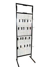 New Black Gridwall Mesh Display Stand Panel Retail Shop + 20 Black Hooks