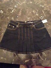 NWT Duchesse Jeans mini pleated skirt