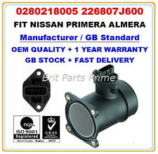 Mass Air Flow meter Sensor for NISSAN ALMERA PRIMERA 226807J600 0280218005