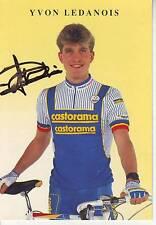 carte cycliste YVON LEDANOIS  équipe CASTORAMA 1991 signée