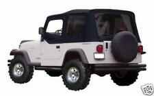 .new 1988-,-1995 REPLACEMENT SOFT TOP Jeep YJ Wrangler FOR HALF DOORS BLACK