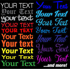 """12"""" Custom Text Decal Your custom and Text Font Decal Sticker Your Text Here"""