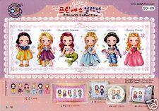 """Princess Collection"" Cross stitch pattern book. Big Chart. SODA SO-K9"