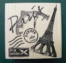 """Paris rubber stamp WM 2.4x2.4""""  P5"""