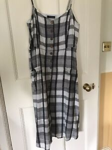 Kaleidoscope Sundress fully lined Ivory/Charcoal Size 16 great condition