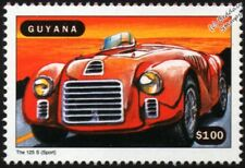 FERRARI 125 Sport (125S) Race Car Mint Automobile Stamp (1998 Guyana)