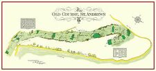 """The Old Course St. Andrews Links--23"""" x 11"""" a VintageGolfCourseMaps print"""