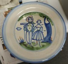 """Vintage M.A. Hadley Farmer and Wife 15"""" Platter"""