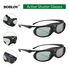 2x Active Shutter 3D Glasses Home Movie For DLP-LINK Projectors Acer/BenQ/Optoma