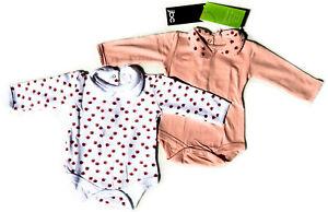 2er Set Baby Bio Baumwolle Body Strampler Kleinkind  Marienkäfer 6 -12 M 62 - 68