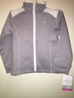 85eb0dd07832 CARTER S Toddler Girls  Active Zip-Up Jacket GREY WHITE Size 4T ...