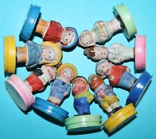 9x early german composition Halloween or Brownie Figures on Candy Container box